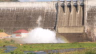 Water stream releasing from the dam. video