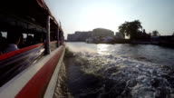 Water taxi fast floating at the Chao Phraya River video