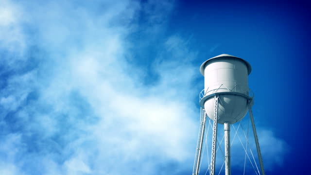 Water Tower With Clouds Passing video