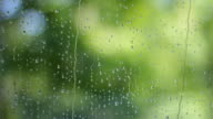Waterdrops on glass video