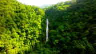 Waterfall Aerial Shot at Chiang Mai, Thailand. 4K video