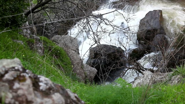 Waterfall and  stream in the rocks video