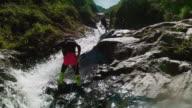 waterfall climb in baños ecuador video