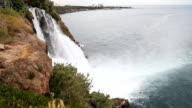 Waterfall Duden at Antalya, Turkey - nature travel background video