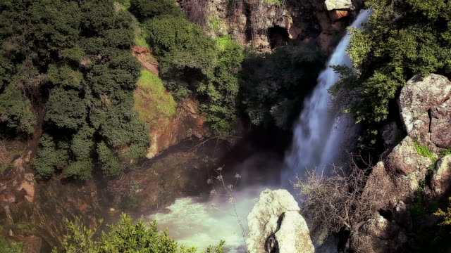 Waterfall falling to gorge video