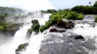 Waterfall Iguazu Falls in Argentina. video