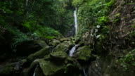 Waterfall in deep forest, Thailand. video