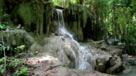 Waterfall in Erawan National Park in Thailand video