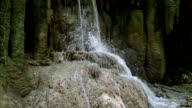 Waterfall in Erawan National Park, Thailand video