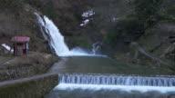 Waterfall in Ginzan Hot Spring, Yamagata, JAPAN video
