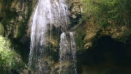 Waterfall in green nature video