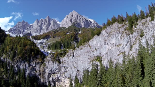 AERIAL: Waterfall in middle of the mountais video
