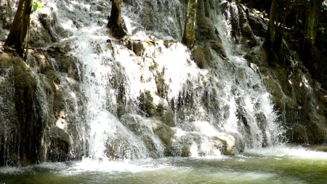 Waterfall in Mountains in Slow Motion video