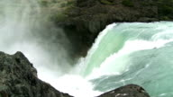 Waterfall in Patagonia, Chile. Slow motion video