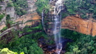 waterfall in the Blue Mountains national park, Australia video