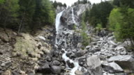 Waterfall in the Dolomites Mountains video