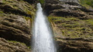 Waterfall in the mountainside video