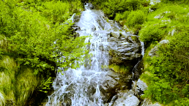 A waterfall in the Swiss mountains. Canton of Tessin. video