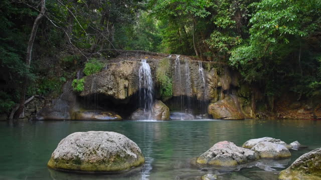 Waterfall in Tropical forest Paradise video