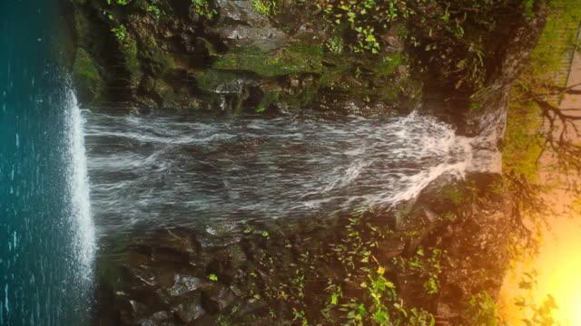 Waterfall in Tropical Paradise (HD Slow-motion Loop) video