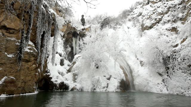 HD waterfall in winter video