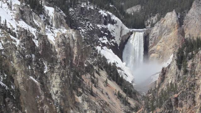 HD waterfall landscape yellowstone national park video