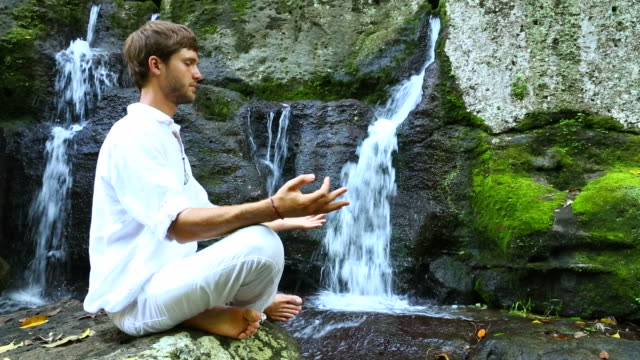 Waterfall meditation video
