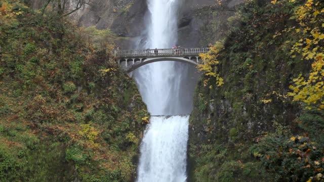 waterfall - multnomah falls in Oregon video