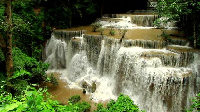 Waterfall Namtok Huay Mae Khamin in Kanchanaburi; Thailand video