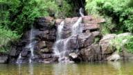 Waterfall near Nuwara Eliya in Sri-Lanka video