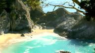 waterfall on beach video