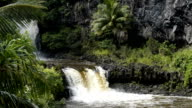 Waterfall on the road to Hana on Maui video