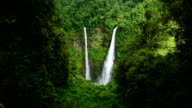 Waterfall rainforest in Pakse, Laos video