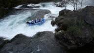 Waterfall Strbacki Buk, Bosnia and Herzegovina, rafting boat on whitewater video