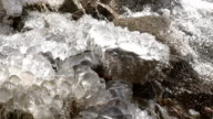 Waterfall Surrounded by Ice video