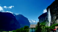 'waterfall town' of the Jungfrau scenic area video