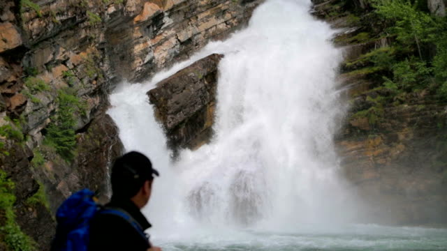 Waterfall, Waterton Glacier Park video