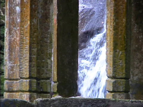 Waterfall with columns in Xilitla Mexico 2 video