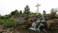 Waterfall with Cross video