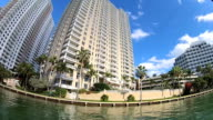 Waterfront Miami vacation resort hotels and condominiums, Miami, USA video
