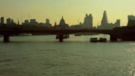 Waterloo Bridge and St Paul's Cathedral, London video