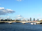 Waterloo Bridge and the City of London video