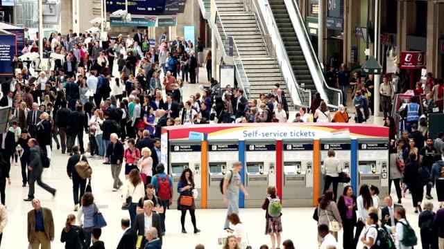 Waterloo Station in London, Panning video