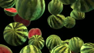 Watermelons Falling - Slow Motion + ALPHA video