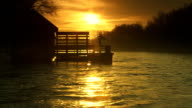 HD SLOW MOTION: Watermill At Sunrise video