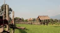 Watermill in Pua district .Nan, Thailand video