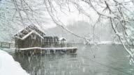 HD SLOW MOTION: Watermill In Winter video