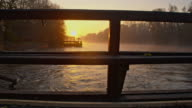 WS Watermill on Mur river at sunrise video