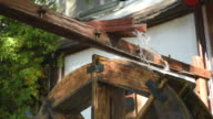 watermill spinning under the pressure of water video
