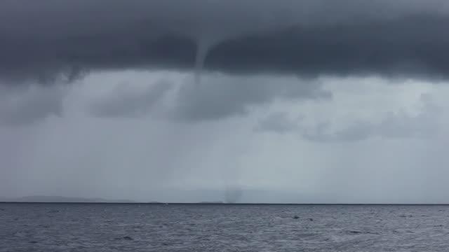 HD: Waterspout in Croatia video